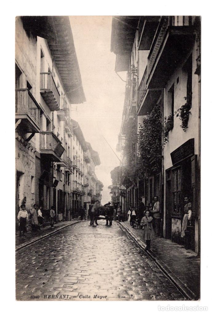 HERNANI (GUIPUZCOA).- CALLE MAYOR (Postales - España - Pais Vasco Antigua (hasta 1939))