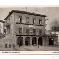 Postales: LEQUEITO. VIZCAYA.- AYUNTAMIENTO - L. ROISIN. Lote 119723931