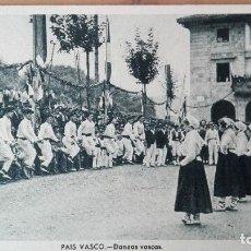 Postales: POSTAL COSTUMBRES TIPOS VASCOS DANZAS VASCAS ED MUSEUM VIZCAYA GUIPUZCOA PAIS VASCO PERFECTA CONSERV. Lote 120358215