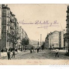 Postales: BILBAO GRAN VIA. ED. STENGEL & C. Nº 2 REVERSO SIN DIVIDIR.. Lote 120565815