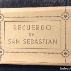 Postales: ACORDEON SAN SEBASTIAN RECUERDO 10 POSTALES AÑOS 50 GALARZA . Lote 121004011