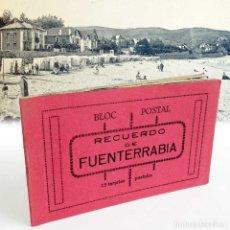 Postales: ÚNICO EN TC. BLOC 12 POSTALES FUENTERRABIA. AÑOS 40.. Lote 121951439