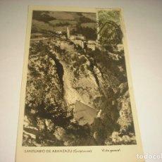 Postales: SANTUARIO DE ARANZAZU GUIPUZCOA . VISTA GENERAL, ESCRITA. Lote 122051291