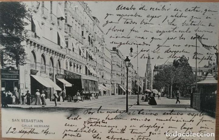 SAN SEBASTIÁN CALLE HERNANI (Postales - España - Pais Vasco Antigua (hasta 1939))