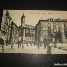 Postales: VITORIA PLAZA DE BILBAO Y CUESTA DEL TEATRO. Lote 122574251