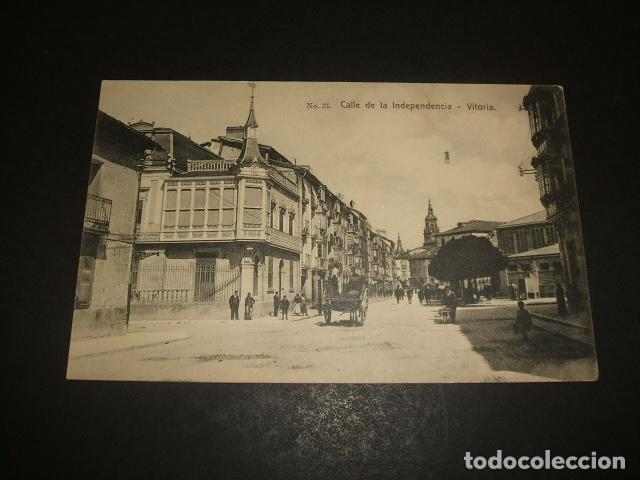 VITORIA CALLE DE LA INDEPENDENCIA (Postales - España - Pais Vasco Antigua (hasta 1939))