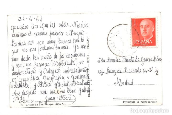 Postales: BAQUIO (VIZCAYA).- ERMITA SAN PELAYO, SIGLO XII - Foto 2 - 122583879