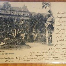 Postales: POSTAL SAN SEBASTIAN DIPUTACION PROVINCIAL HAUSER Y MENET SELLO DEL PELON. Lote 122814627