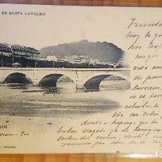 Postales: POSTAL SAN SEBASTIAN PUENTE DE SANTA CATALINA SELLO DEL PELON HAUSER Y MENET. Lote 122814875