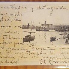 Postales: POSTAL BILBAO PUERTO HAUSER Y MENET 1902. Lote 122824783