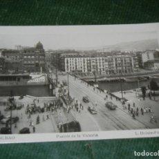 Postales: BILBAO Nº 221. PUENTE DE LA VICTORIA. L. ROISIN. Lote 123056159