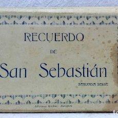 Postales: ÁLBUM 20 POSTALES, RECUERDO DE SAN SEBASTIÁN. EDICIONES ARRIBAS - ZARAGOZA.. Lote 123201883