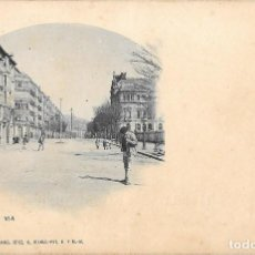 Postales: 1901 POSTAL CIRCULADA BILBAO GRAN VÍA. LANDABURU HERMANAS HAUSER Y MENET. Lote 123392143