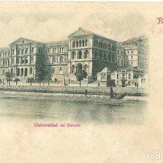 Postales: 1900 CA RECUERDO DE BILBAO UNIVERSIDAD DE DEUSTO HAUSER Y MENET. Lote 123394655