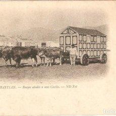 Postales: SAN SEBASTIÁN - BUEYES ATADOS A UNA CASITA ND SIN C.. Lote 123414071