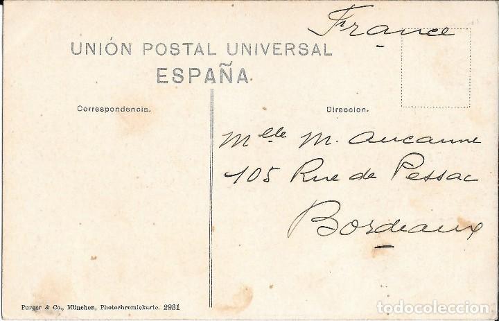 Postales: 1906 POSTAL BILBAO CIRCULADA LA GRAN VÍA (PURGER & CO, MUNCHEN) - Foto 2 - 123544191