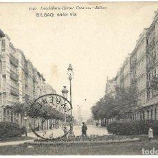 Postales: 1906 POSTAL CIRCULADA BILBAO GRAN VIA LANDABURU HERMANAS HAUSER MENET. Lote 123544415