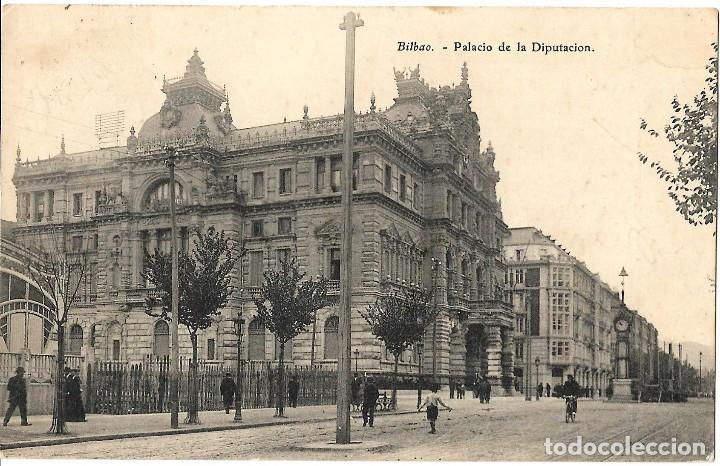 1906 POSTAL CIRCULADA BILBAO PALACIO DE LA DIPUTACIÓN (Postales - España - País Vasco Moderna (desde 1940))