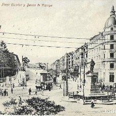 Postales: 1908 POSTAL CIRCULADA PLAZA CIRCULAR Y BANCA DE VIZCAYA (RÖMMER & JONAS, DRESDE). Lote 123546035