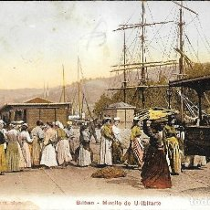 Postales: 1909CA POSTAL SIN CIRCULAR BILBAO MUELLE DE URIBITARTE DESCARGA BACALAO (EDITION PHOTOGLOB, ZÜRUCH). Lote 123546687
