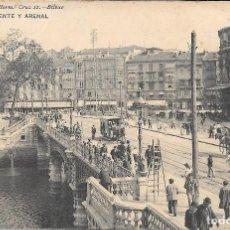 Postales: 1911 POSTAL CIRCULADA PUENTE Y ARENAL LANDABURU HERMANAS HAUSER Y MENET . Lote 123547999