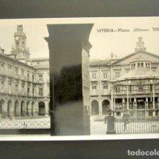 Postales: POSTAL FOTOGRÁFICA VITORIA. PLAZA ALFONSO XIII. G.H. ALSINA. MÁRGARA. . Lote 125755823