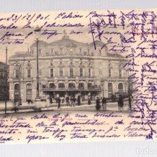 Postales: TARJETA POSTAL BILBAO. TEATRO ARRIAGA. RECUERDO DE BILBAO. LIBRERIA DE ELEUTERIO VILLAR. AÑO 1904. Lote 126243598