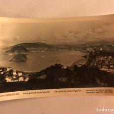 Postales: SAN SEBASTIÁN. POSTAL. VISTA GENERAL DESDE IGUELDO. EDITA MANIPEL (H.1950?). Lote 126307300