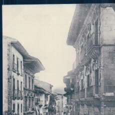 Postales: POSTAL FUENTERRABIA - CALLE MAYOR - TIBURCIO BERROTARAN - SIN DIVIDIR. Lote 127147971