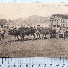Postales: SAN SEBASTIÁN, BUEYES ATADOS A UNA CASITA. SIN CIRCULAR. . Lote 127544151