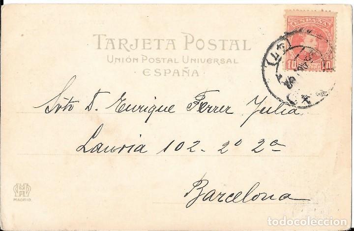 Postales: 1902 Postal circulada Las Arenas - Portugalete Puente Vizcaya Landaburu Hermanas - Hauser y Menet - Foto 2 - 127559407
