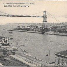 Postales: 1907 POSTAL CIRCULADA PUENTE DE VIZCAYA PORTUGALETE Y LAS ARENAS LANDABURU HERMANAS HAUSER Y MENET. Lote 127559739