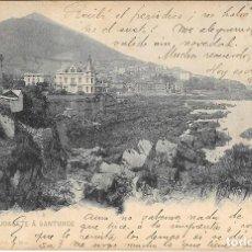 Postales: 1902 POSTAL CIRCULADA DESDE PORTUGALETE A SANTURCE LANDABURU HERMANAS - HAUSER Y MENET. Lote 127588235