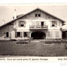 Postales: ZUMAYA.- FINCA DEL ILUSTRE PINTOR D. IGNACIO ZULOAGA. FOTO GAR. Lote 128052563