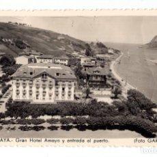 Postales: ZUMAYA.- GRAN HOTEL AMAYA Y ENTRADA AL PUERTO. FOTO GAR. Lote 128052727