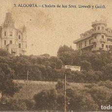 Postales: 1925-30CA POSTAL SIN CIRCULAR ALGORTA CHALET SRES. BARBIER ALCALDESA VIZCAYA. Lote 128055403