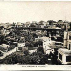 Postales: 1925-30CA POSTAL SIN CIRCULAR VISTA PANORAMICA DE ALGORTA EREAGA VIZCAYA. Lote 128055511