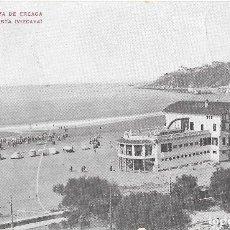 Postales: 1915 POSTAL CIRCULADA BALNEARIO PLAYA DE EREAGA ALGORTA VIZCAYA. Lote 128055939