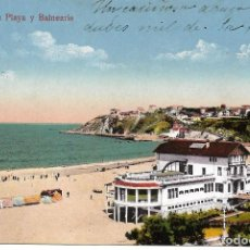Postales: 1924 POSTAL CIRCULADA BALNEARIO IGERETXE PLAYA DE EREAGA ALGORTA VIZCAYA (L.G.). Lote 128056179