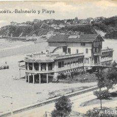 Postales: 1924CA POSTAL SIN CIRCULAR BALNEARIO IGERETXE PLAYA DE EREAGA ALGORTA VIZCAYA (L.G.). Lote 128056247