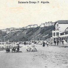 Postales: 1920CA POSTAL SIN CIRCULAR BALNEARIO IGERETXE PLAYA DE EREAGA ALGORTA VIZCAYA (L.G.). Lote 128056407