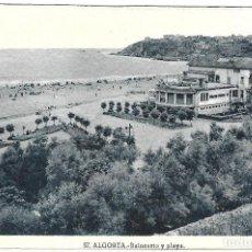 Postales: 1925-30CA POSTAL SIN CIRCULAR BALNEARIO IGERETXE PLAYA DE EREAGA ALGORTA VIZCAYA (ROISSIN). Lote 128056483