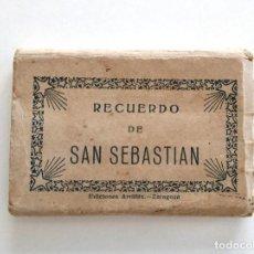 Postales: BOLC ACORDEÓN 20 IMÁGENES RECUERDO DE SAN SEBASTIÁN - EDICIONES ARRIBAS. Lote 128251631