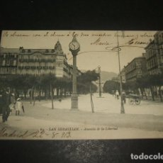Postales: SAN SEBASTIAN AVENIDA DE LA LIBERTAD. Lote 128371291