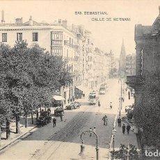 Postales: SAN SEBASTIAN.- CALLE DE HERNANI. Lote 128528507