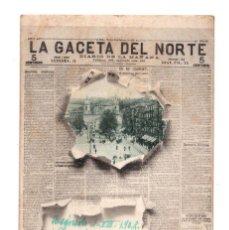 Postales: LA GACETA DEL NORTE. DIARIO DE LA MAÑANA. BILBAO. 4 LANDÁBURU HERMANAS. SERIE PERIODICOS.. Lote 128746051