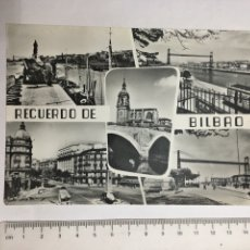 Postales: POSTAL. BILBAO. SANTURCE. LAS ARENAS. IGLESIA Y PUENTE DE SAN ANTÓN. POSTAL MADRID. H. 1960?. Lote 128921996