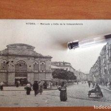 Postkarten - Vitoria. Mercado y calle de la independencia. - 129026303