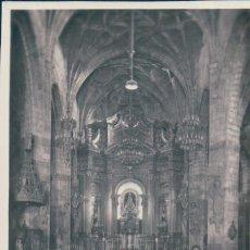 Postales: POSTAL BILBAO - BASILICA DE NUESTRA SEÑORA DE BEGOÑA - ALTAR MAYOR - 38 GARRABELLA - CIRCULADA. Lote 190223172