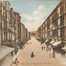 Postales: VITORIA CALLE DE LA ESTACIÓN SIN DATOS CIRC. EN 19016. Lote 130759644